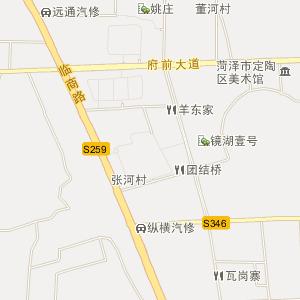 菏泽市定陶县电子地图_定陶县在线旅游交通图; 定陶县委党校住宿;