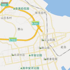 青岛开发区25路上行公交线路